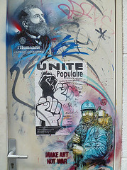 Jean Jaures / Soldier World War I (HBA_JIJO) Tags: portrait streetart france art painting graffiti stencil artist pochoir vitry urabn vitrysurseine c215 christiangumy hbajijo
