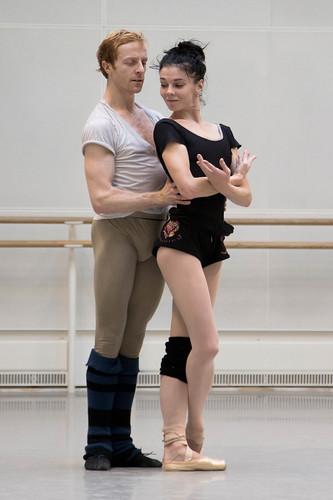 Steven mcrae and natalia osipova in rehearsal andrej uspenski