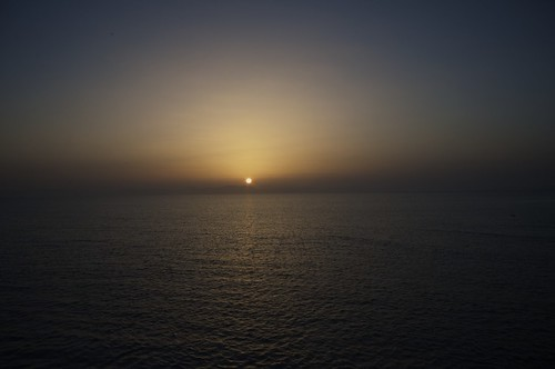Sunset over the red sea