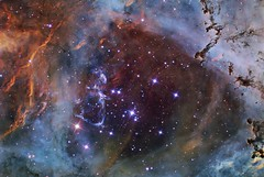 In the Heart of the Rosette Nebula (www.linkobservatory.org) Tags: nebula monoceros ngc2244 rosettenebula
