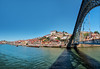 Blue sky, Portuguese style (Paco CT) Tags: douro panoramica rio river agua pano panorama panoramic water oporto portugal prt bridge puente bluesky blue sky structure architecture pacoct 2017