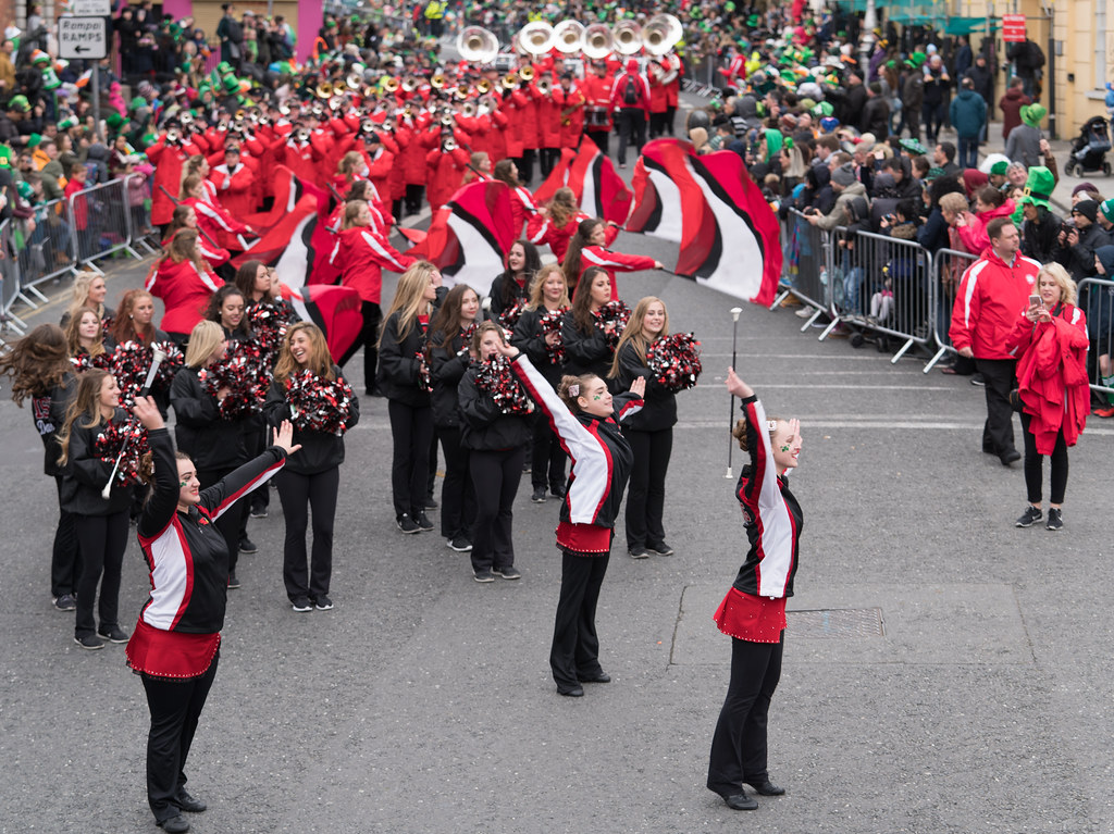 Illinois State University's Big Red Marching Machine [St. Patricks Parade 2017]-125841