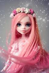 # Azalée ( Monster High By Raquel Clemente ) (Nickocha) Tags: monsterhigh reroot wind pink custom dolls doll repaint high monster