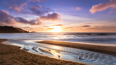 Junction (romainguy) Tags: neutralgradient beach landscape winter season circularpolarizer water time filter ocean sunset filters filtre filtres pacifica ca usa