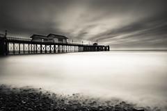 Penarth Pier long exposure (Welsh Photographer) Tags: bigstopper hitech nd filter longexposure sea seascape wales welsh penarth pier vale glamorgan mono monochrome blackandwhite pentax k3ii da 1650mm