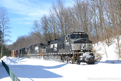 NS 9208 GE D9-44CW (36T) (Trucks, Buses, & Trains by granitefan713) Tags: train freighttrain mixedfreight manifest locomotive ns norfolksouthern railroad railfan sunburyline nssunburyline roadtrain ge generalelectric ged944cw d944cw c449w dash9 lashup