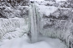 Palouse Falls in Winter (amarilloladi) Tags: wow icicles frozenwaterfall frozen northwest pacificnorthwest easternwashington palouseriver palousefalls 7dwf landscapes waterfall falls palouse snow winter water rock cliffs rivers