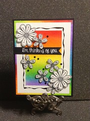Casual Fridays Challenge Card (joyfulstamper) Tags: casualfridays rainbow flowers distress clarity backgrounds