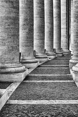 Vatican City (drasphotography) Tags: roma rome vaticano vatican city vatikanstadt architecture architektur blackandwhite bw bianconero monochrome monochromatic monotone column säule lines geometric geometry drasphotography nikon d810 nikkor2470mmf28 schwarzweis sw