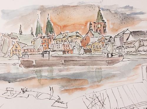 #Urban #Sketching #Lübeck #Sunset