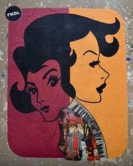 FKDL (Ausmoz) Tags: paris street art streetart rue urbain urban mur murs wall walls sticker stickers poster posters collage collages pasteup franck duval fkdl 75003