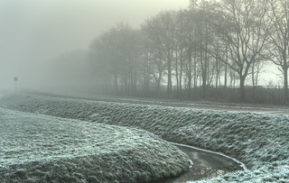 Low clouds in the Low Countries.