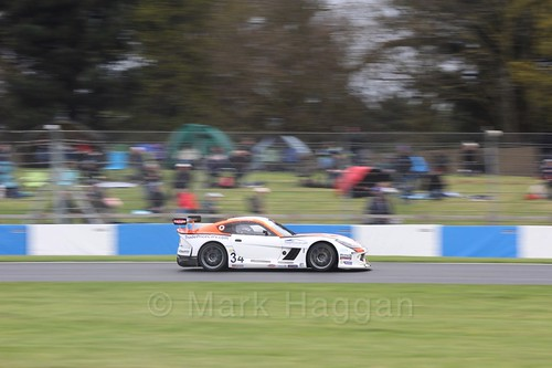 Dan Kirby in the Ginetta GT4 Cup at the British Touring Car Championship 2017 at Donington Park