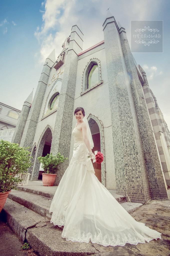 羅東北成天主堂,北成天主堂婚紗,宜蘭婚紗景點聖母升天堂,中和婚紗推薦,板橋婚紗攝影,視覺流感
