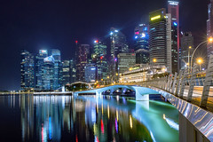 The Path (Lemuel Montejo) Tags: path pathway walk walkway singapore singapura sg night longexposure reflection water bridge underthebridge city architecture buildings urban cityscape nightscape