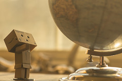 How far away is China? (hey ~ it's me lea) Tags: danbo danboard amazon globe
