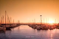 Su Siccu seaport (Fabrizio Contu) Tags: sunset landscape seascape cagliari sardegna sardinia susiccu sea seaport boat fujifilm fujifilmxt10 845mmfilters