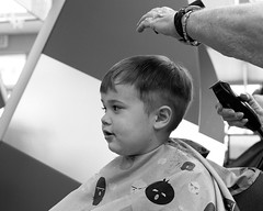 ~ First Cut ~ (Austie1) Tags: austie1 hair cut first boy wonder clippers scissors