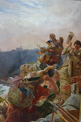 """Detail of """"The Danes descend upon the coast and at last possess Northumberland"""" by William Bell Scott (Sparky the Neon Cat) Tags: europe united kingdom uk great britain gb england northumberland wallington hall central painting art william bell scott preraphaelite"""