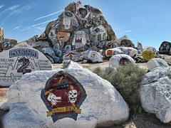 """""""Victory to the Bold"""" (shadowplay) Tags: military patches memorial ftirwin mojavedesert"""