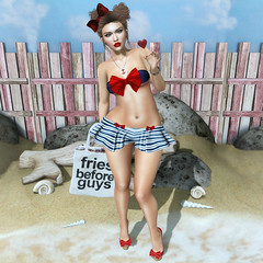 {Blog 197} Beach Fun (veronica gearz) Tags: avatar avi astralia blogging bloggers blogger blog blogs maitreya mesh life lelutka secondlife second sl summer beach ysys entwined shinyshabby lamb elegance eleganceboutique ncore izzies kibitz boldbeauty powderpack emarie purpleposes n21 fun