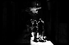 shadows / ombres (angelvp) Tags: shadow urban barcelona backlight city bw streetphotography street blackandwhite nikond7000 monochrome catalunya spain es