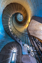 Eckmühl stairs (lavignassey) Tags: lighthouse phare eckmühl penmarch finistère bretagne brittany france stair escalier colimaçon spirale spiral architecture