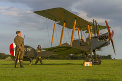 Before Flight (Kev Gregory (General)) Tags: events sunset night shoot stow maries great war aerodrome maldon essex world one wwi raf rfc royal flying corp air force sqn squadron biplane aircraft aeroplane historic kev gregory canon 7d aircrew check their factory be2e replica cn 752 a2767 a 2767 timeline
