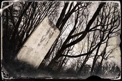 Grave Words (drei88) Tags: bleak grim sad forlorn stark grave barren desolate solitude lonely mournful creepy eerie windswept cold dark life death eternal love loss despair fortune timeregression agedphoto faded stained torn broken empty 1824