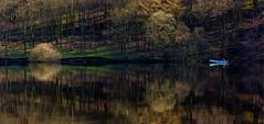 A Calm Morning (Peter Quinn1) Tags: ladybowerreservoir derbyshire peakdistrict darkpeak fishing angling boat reservoir reflection reflections spring earlyspring frost