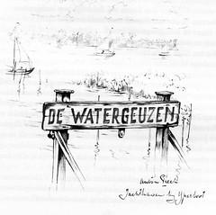 Anton Pieck- Bemin dan Amsterdam, 1948 ill   Jachthaven (janwillemsen) Tags: antonpieck amsterdam bookillustration 19451948