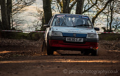 Rally Peugeot Front (PKpics1) Tags: rally somerset somersetstages exmoor cars track dust dirt