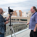 Ethan Zuckerman getting photo taken