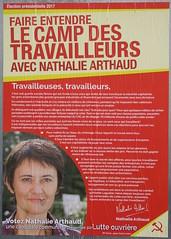 Nathalie Arthaud (emmanuelsaussieraffiches) Tags: affiche politique political poster lutteouvrière