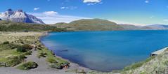 imgp3943 - imgp3944 (Mr. Pi) Tags: waterside lake andes lagopehoe mountains chile torresdelpaine hills patagonia nationalpark