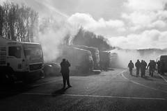 Morning Warmup (realjv) Tags: 2017 btra blackandwhite brandshatch britishtruckracingchampionship exhaust monochrome motorsport racetruck smoke truckracing westkingsdown england unitedkingdom gb
