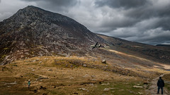 Fly past... (Einir Wyn Leigh) Tags: plane landscape people love happy air sky aeroplane rugged mountain outdoor walking joy