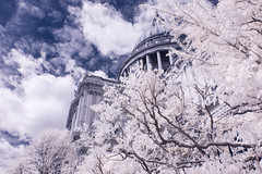 Infrared London April 16th 2017 (23 of 66) (johnlinford) Tags: canon40d canonefs1022 infrared infraredlandscape infraredlondon london cityoflondon city skyscraper stpauls cathedral