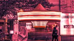 Carucell (HouseCatt) Tags: carousel city pink longexposure wallpaper dreamy blurry lights