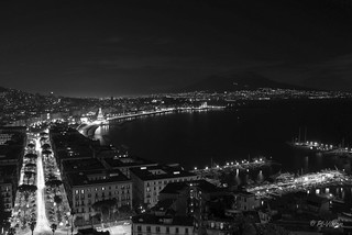 Napoli bay by night