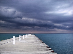 Jackson St. Pier, Lake Michigan.
