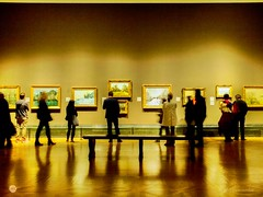Impressionist (pdascombe) Tags: 365 artshow impressionists london nationalgallery slowshutterspeed barbedwire