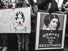 IMG_0253 (justine warrington) Tags: womens march womensmarch womensmarchonwashington washington pink pussy hats pinkpussyhat protest signs trump 45th presidential election january 21st 2017 potus resist resistance is fertile