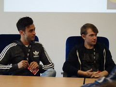Fady Elsayed and Greg Austin (Class Panel) (RickyOrr) Tags: walescomiccon walescomiccon2017 walescomiccon2017partone class bbc bbcclass fadyelsayed gregaustin gregoryaustin bbcthree bbcone bbcamerica johnrhysdavies thelordoftherings lordoftherings lotr thefellowshipofthering thetwotowers thereturnoftheking jrrtolkien peterjackson gameofthrones hbo gameofthroneshbo jamescosmo brianfortune fintanmckeown dominic carter gimli rupertyoung tomhopper alexandervlahos merlin bbcmerlin buffythevampireslayer buffy20 buffy20thanniversary nicholasbrendon emmacaulfield xanderharris anyajenkins anyankajenkins