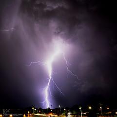 Lightning3 (Austyn Terrio) Tags: lightning purple longexposure electricity shock strike night dark light zigzag florida louisiana astphotography storm daytonabeach