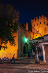 Chefchaouen's Kasbah at Night (adventurousness) Tags: bluecity chefchaouenthebluepearl thebluecity nightphotography blue chaouen chefchaouen light morocco night nighttime travel fortress kasbah