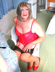 Maxredsmlls-004 (fionaxxcd) Tags: cd tg ts ladyboy drag femmeboi mtf m2f transvestite tranny trannie crossdresser crossdressing xdresser xdressing stilettoes stockings suspendersrednails redbra bust thighs
