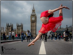 Ballerina  - London (DSC_2713-1) (jocelynmifsud) Tags: london dance ballet westminster westminsterbridge bigben ballerina red ladyinred