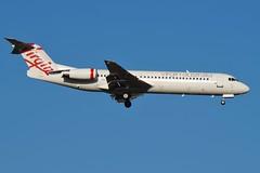 VH-FWI virgin Australia Fokker 100 (johnedmond) Tags: perth ypph australia virgin fokker f100 aviation aircraft aeroplane airplane sel55210 55210mm sony blue sky