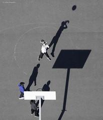Panier ?? (Julianoz Photographies) Tags: europe france idf îledefrance shadow 92 hautdeseine pablopicasso cité sport selectivecolor couleursselective julianozphotographies basket sportif